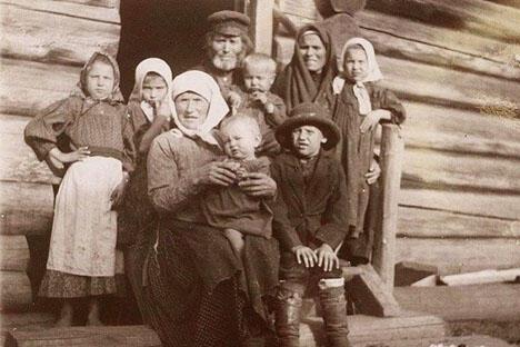 沙皇时期俄国农民。