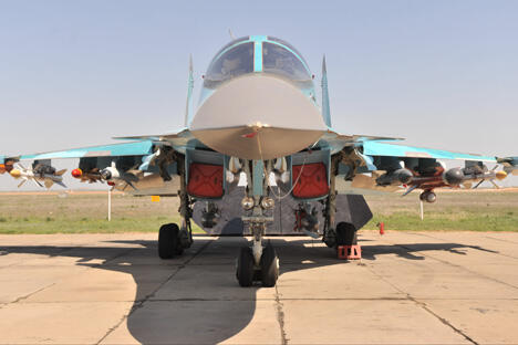 苏-34战机。图片来源:俄通社-塔斯社。