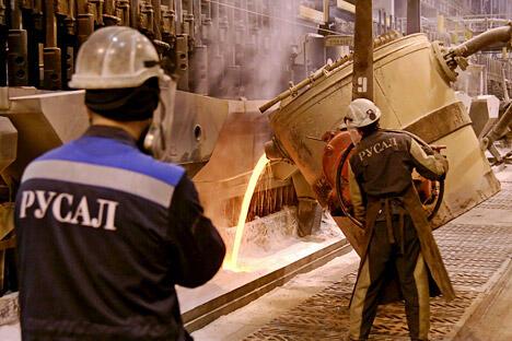 俄铝业联合公司总监谈国际铝市场供求趋势。图片来源:塔斯社