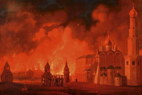 """有一句谚语:""""一分钱的蜡烛烧掉了莫斯科""""。"""