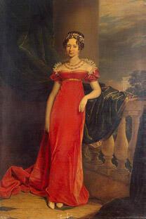 玛利亚•罗曼诺娃,乔治·道伊画,1825年。