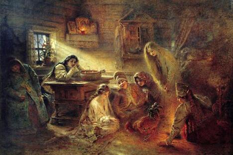 《占卜》,康斯坦丁•马科夫斯基作于1915年前