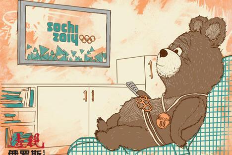 俄罗斯专家抨击国际社会因同性恋问题抵制索契冬奥会。制图:Natalia Mikhaylenko