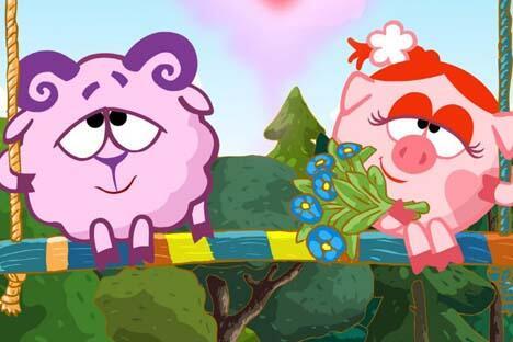 《开心球》系列动画片于2011年开始在中国一家电视台播放。来源:kinopoisk.ru