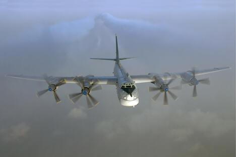 图-95MS。摄影:Sergey Krivchikov