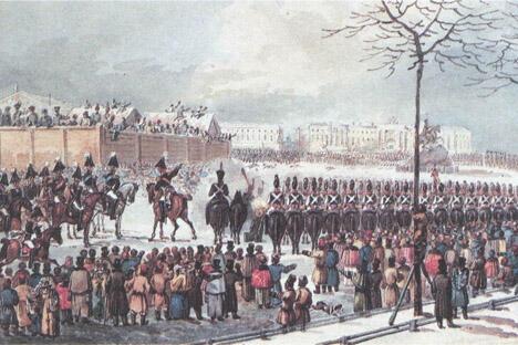 《十二月党人起义》卡尔·科尔曼作于1830年代。图片来源:Wikipedia