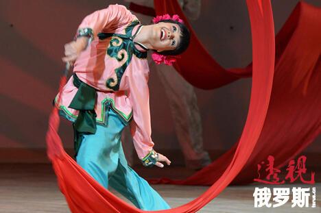 莫伊谢耶夫舞蹈团表演的中国长绸舞。图片来源:俄新社/Vladimir Vyatkin