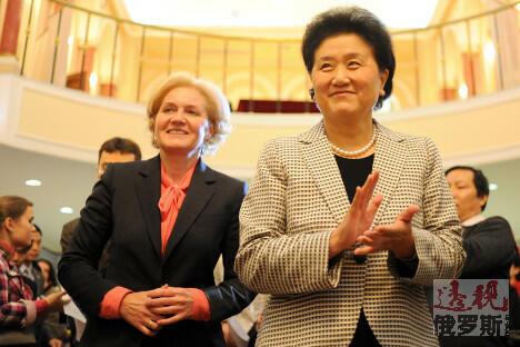 俄副总理戈洛杰茨和中国国务院副总理刘延东参加了开幕式。 图片来源:俄塔社