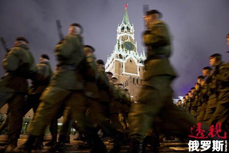 阅兵式彩排 图片来源:AP