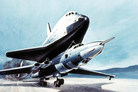 苏联暴风雪号航天飞机  图片来源:Wikipedia.org/Myasishchev