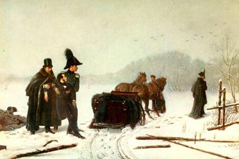 《亚历山大·普希金与乔治·丹特士的决斗》 亚历山大· 纳乌莫夫,1884