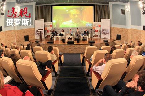 全球著名印刷媒体代表于6月26日至27日齐聚莫斯科,出席《透视俄罗斯》第五届合作伙伴年会。 图片来源:阿尔卡季• 科雷巴洛夫 / 俄罗斯报