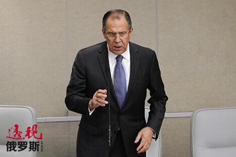 俄罗斯外交部长谢尔盖·拉夫罗夫。图片来源:Ramil Sitdikov/俄新社