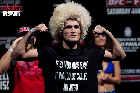哈比卜·努尔马戈梅多夫是UFC拳台上最著名、最耀眼的一位高加索拳手。图片来源:AP