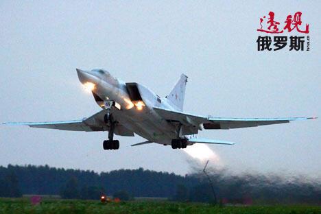 """""""图-22M3""""战略轰炸机。图片来源:Marina Lystseva/俄塔社"""