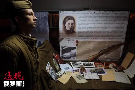 圣彼得堡的列宁格勒防御与围困纪念馆。图片来源:Ruslan Shamukov/俄塔社