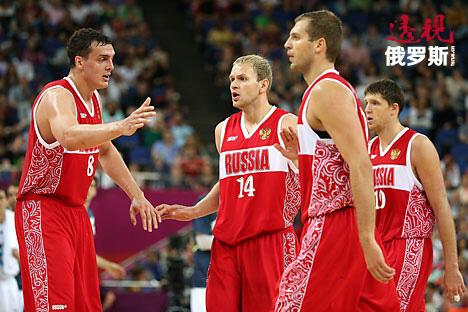 2012年,俄罗斯篮球队在伦敦奥运会。图片来源: