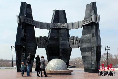 哈巴罗夫斯克,军事荣耀纪念碑。图片来源:Press photo