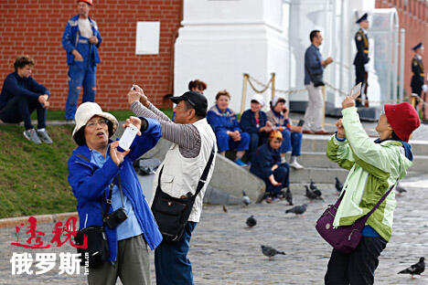 Tourists in Moscow CN
