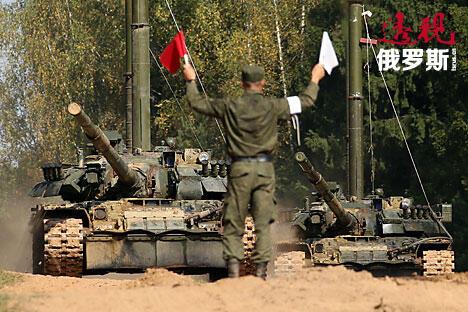 Military exercise Kantemirovskaya Tank Division CN