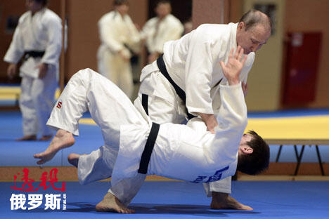 Putin during the training session CN