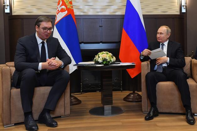 Vladimir Putin and Aleksandar Vučić