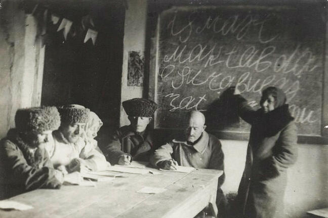 Bolsheviks taught Russians to read and write