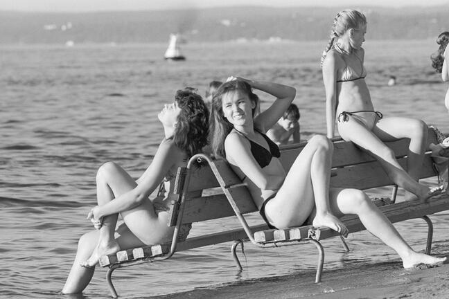Soviet people on the beach
