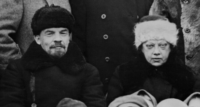 Lenin and Krupskaya