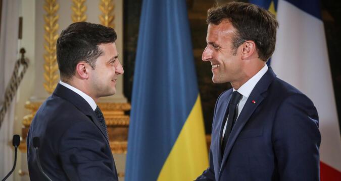 Zelensky and Macron