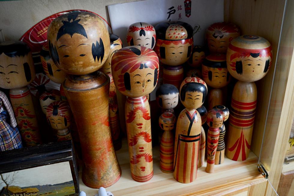 日本传统木偶小芥子。摄影:Alina Yablochkina