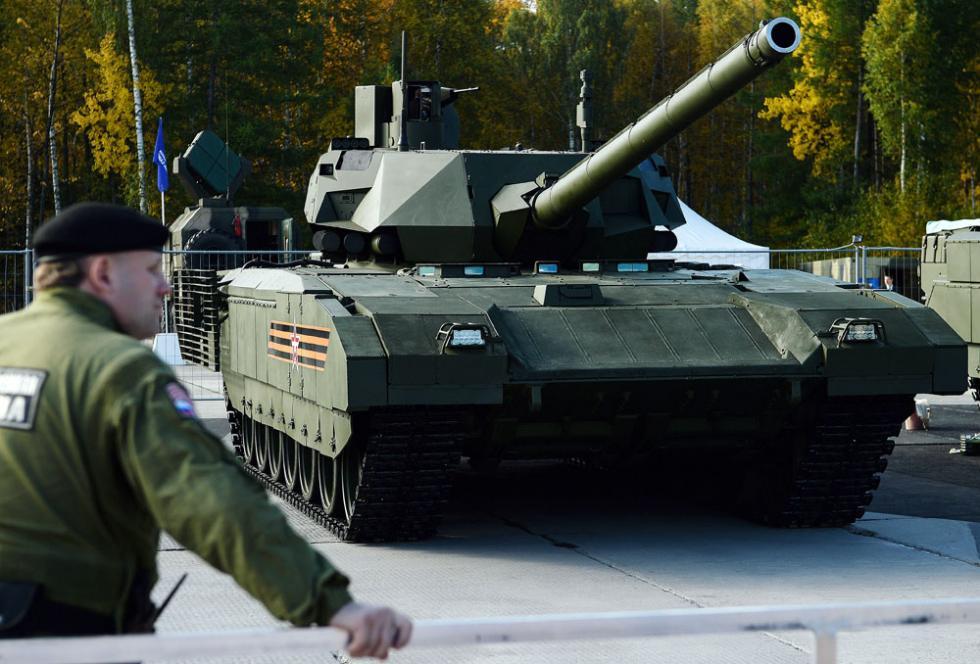 """T-14""""Armata""""坦克。图片来源:Donat Sorokin / 塔斯社"""