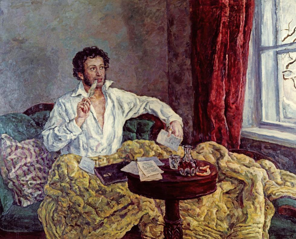 亚历山大·普希金肖像。彼得·孔恰洛夫斯基(Pyotr Konchalovsky),1932年。图片来源:俄新社