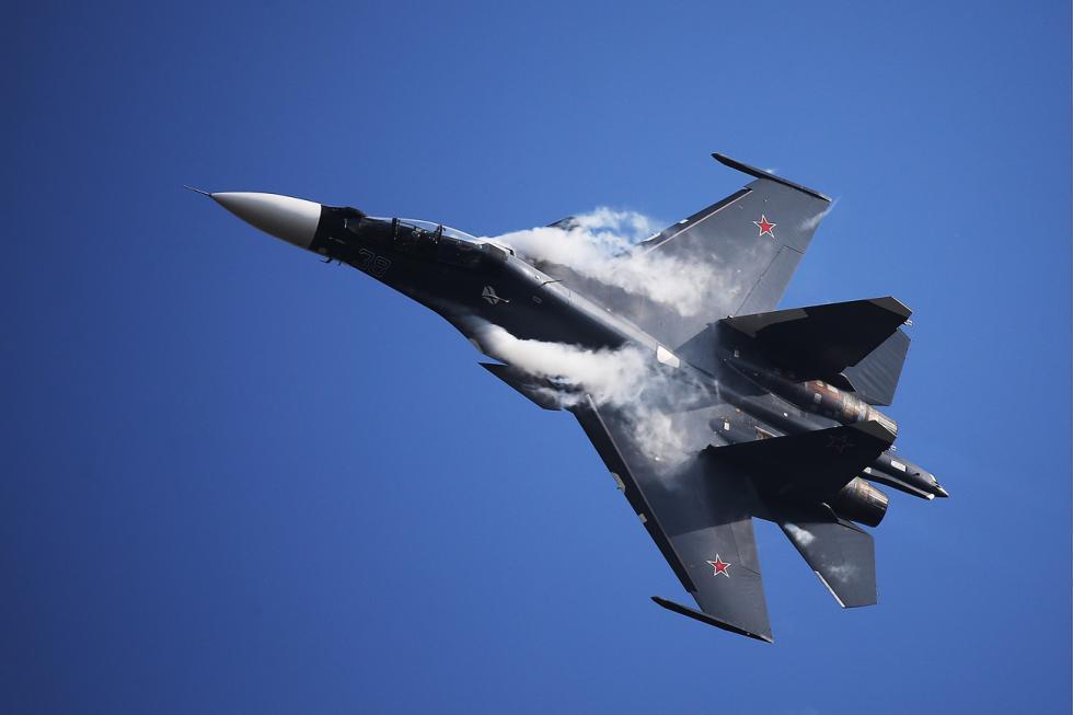 苏-30SM战斗机。图片来源:Marina Lystseva / 塔斯社
