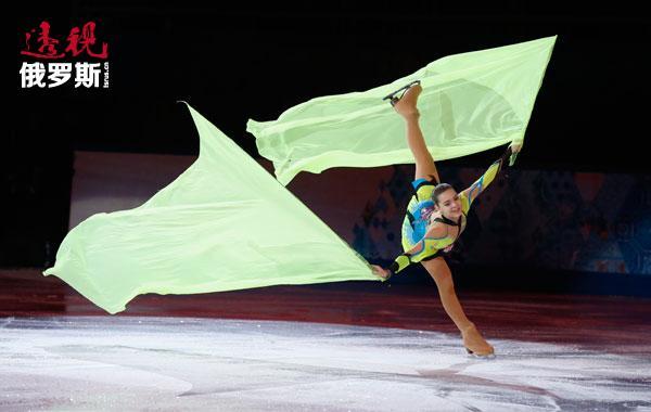 花样滑冰运动员阿德丽娜·索特尼科娃。图片来源:路透社