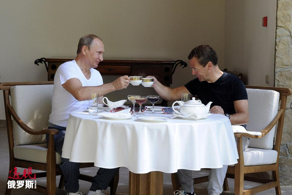 俄罗斯总统弗拉基米尔·普京和俄罗斯总理迪米特里·梅德韦杰夫。图片来源:路透社