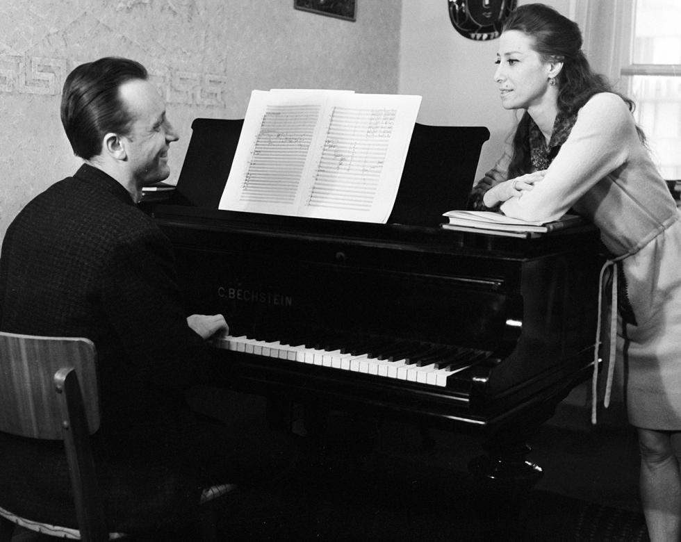 罗季翁·谢德林与玛雅·普利谢茨卡娅。图片来源:Vasily Malyshev/俄新社