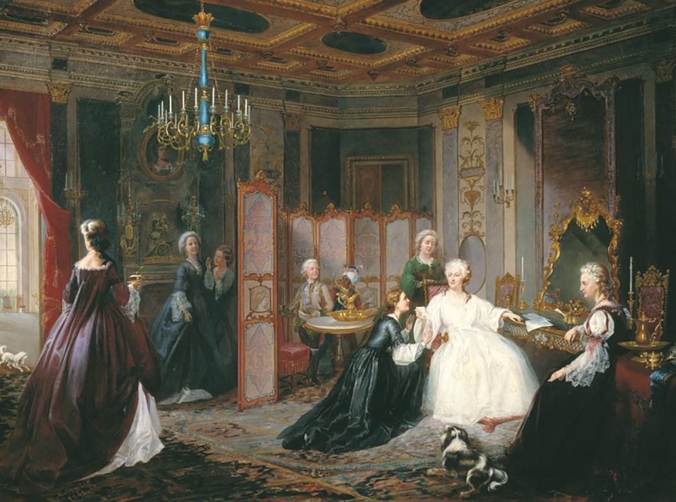 叶卡捷琳娜二世。1861年绘画。 来源:Wikimedia.org