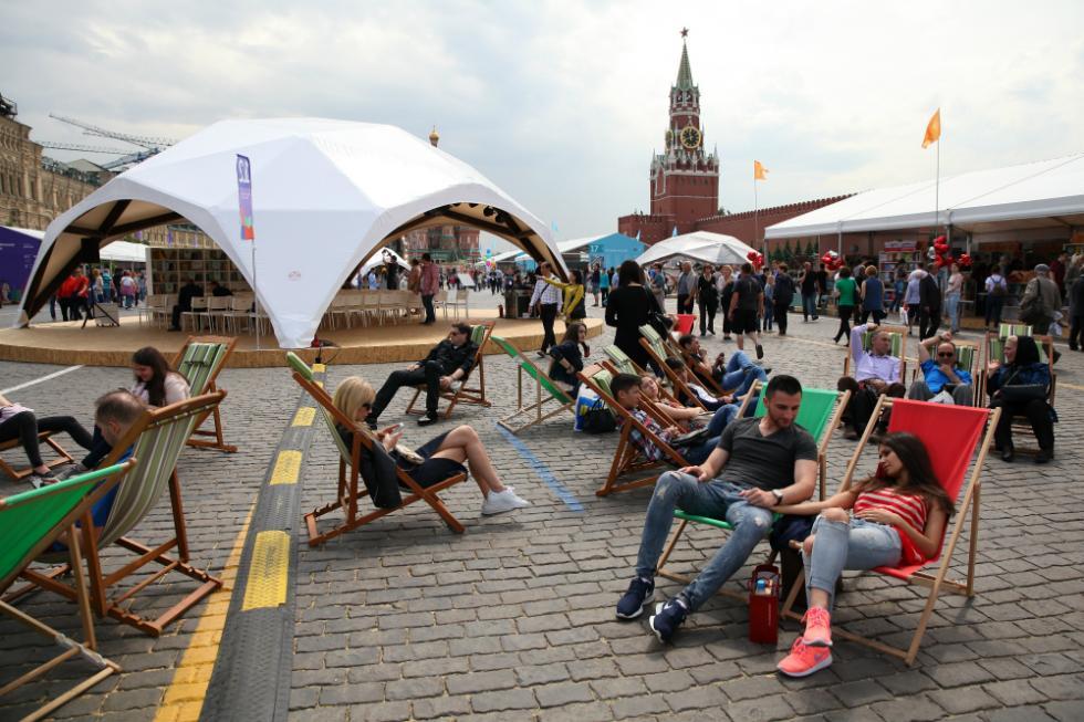 红场图书展会。图片来源:俄罗斯报