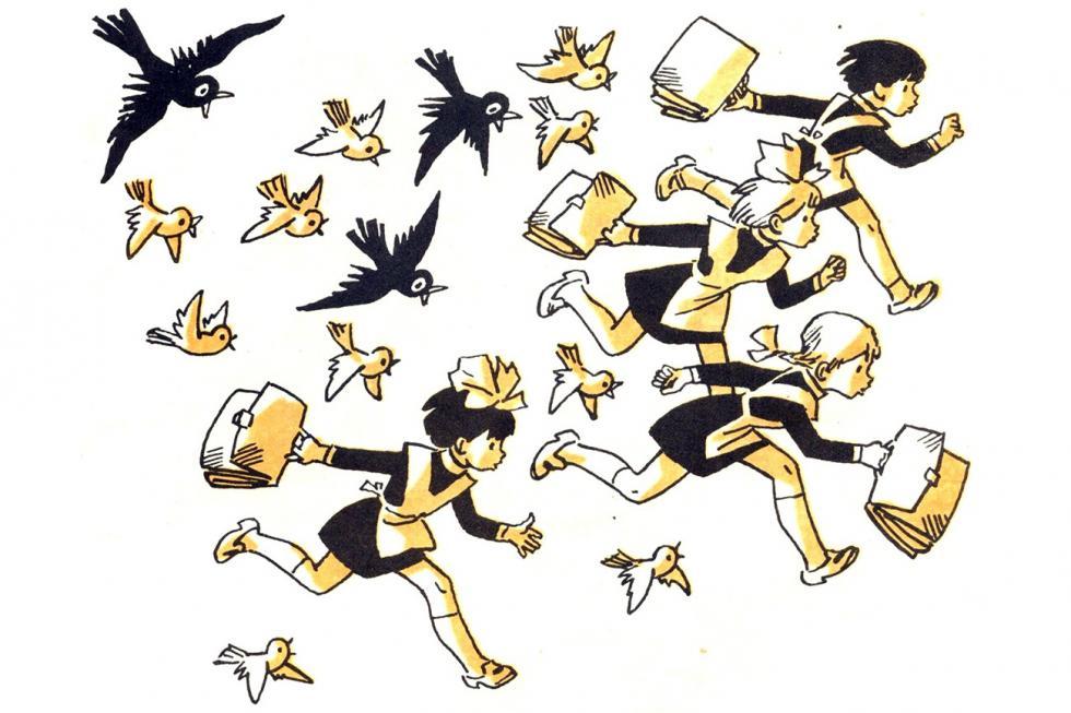 阿格尼亚·巴尔托的诗插图。制图:Genrikh Valk