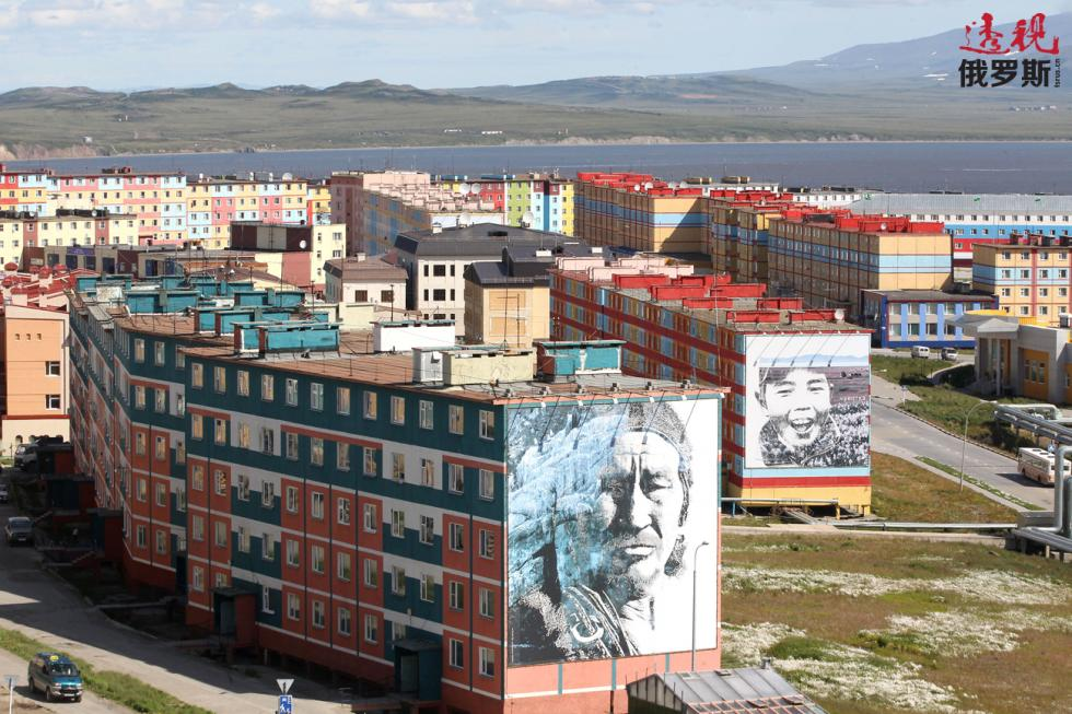 俄罗斯最东端的楚科奇自治区的首府阿纳德尔市。图片来源:Ilya Pitalev/俄新社