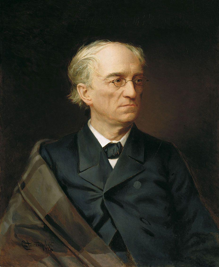 诗人费奥多尔·秋特切夫的肖像。图片来源:特列季雅科夫画廊
