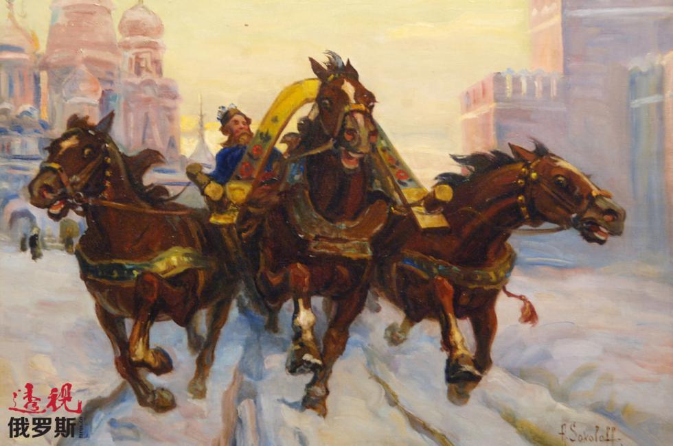 亚历山大·索科洛夫的绘画。图片来源:Sergey Pyatakov/俄新社