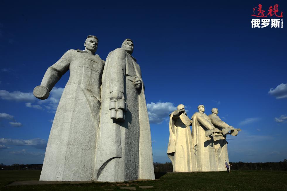 潘菲洛夫师的28名战士纪念碑。 图片来源:Vladimir Sergeev/俄新社