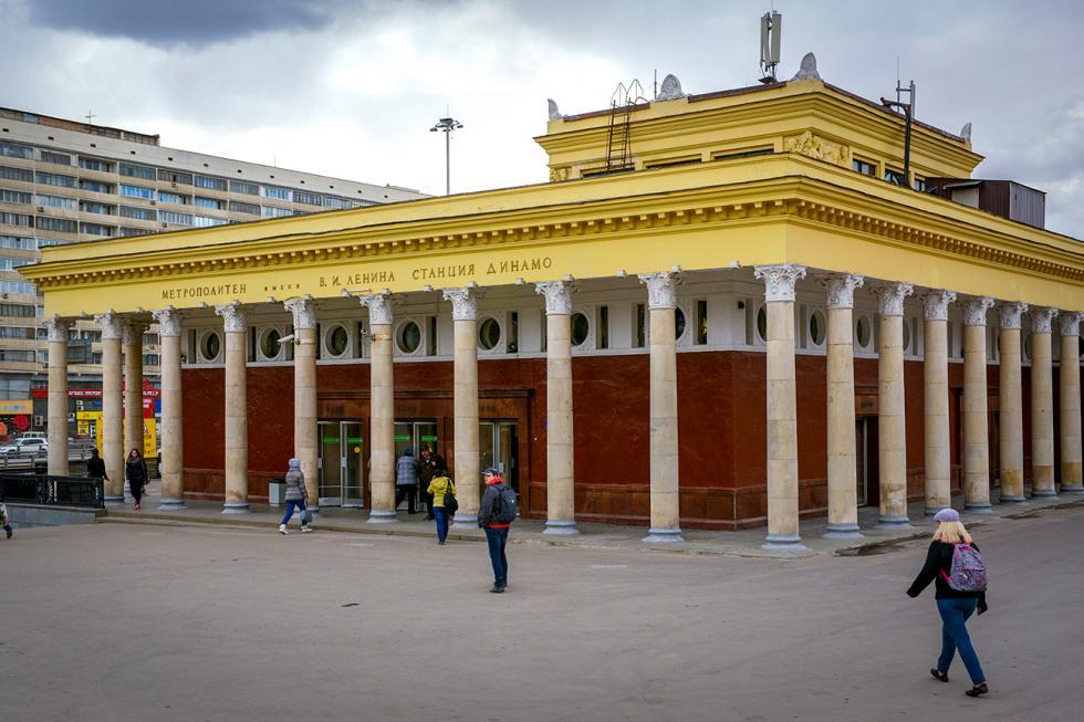 莫斯科地铁迪纳摩站。