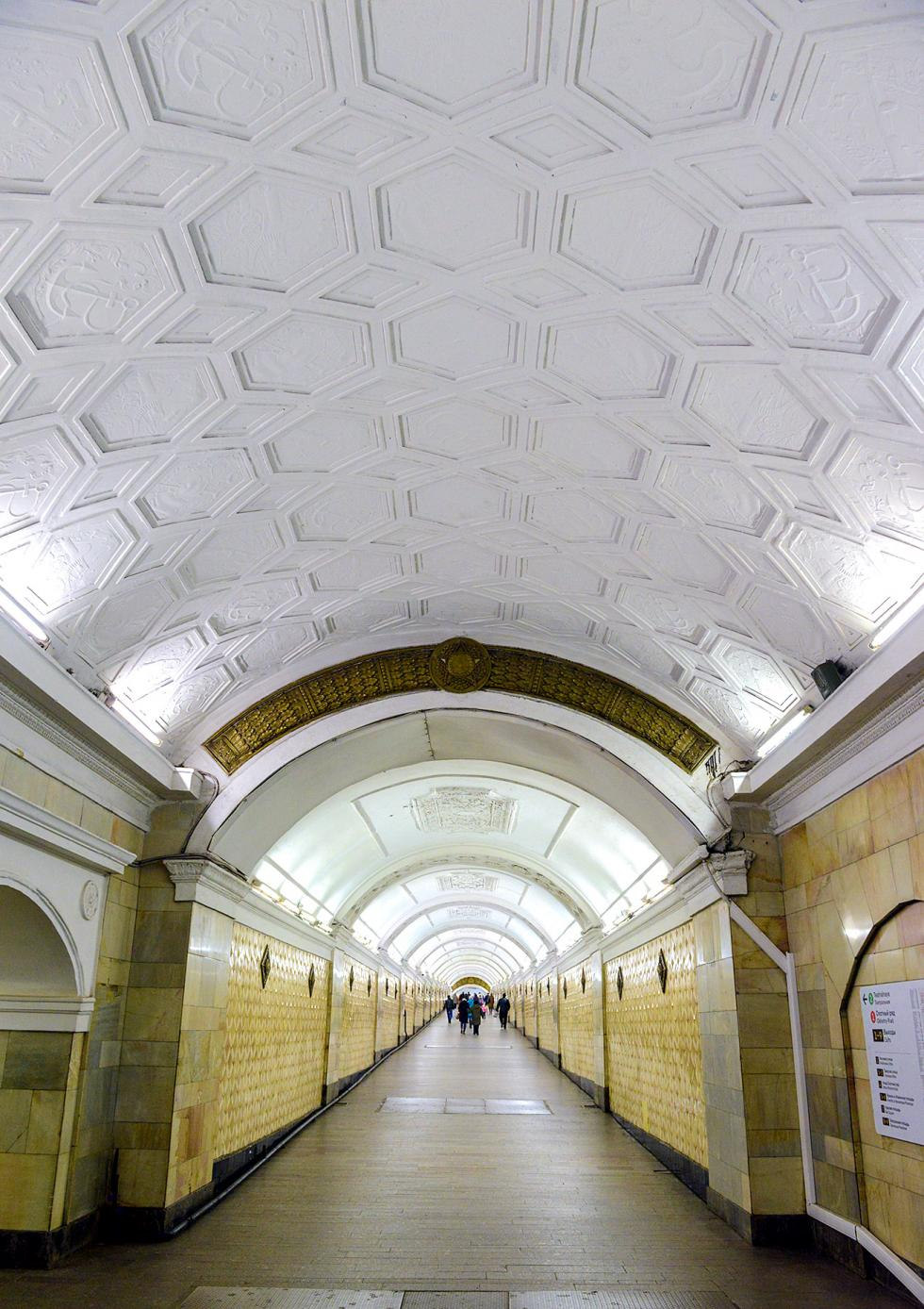 莫斯科地铁剧院站。 图片来源:Nikolai Galkin/塔斯社