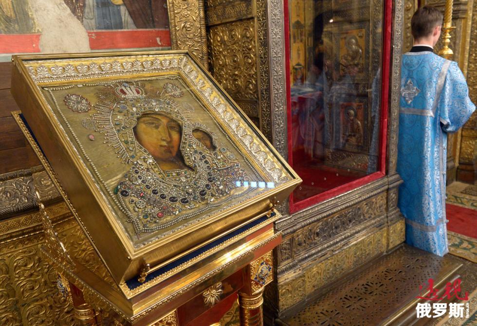 喀山圣母圣像复制品。图片来源:Sergey Pyatakov/俄新社