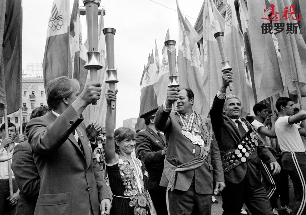 奥尔加·科布特在莫斯科,1980年7月18日。 图片来源:AP