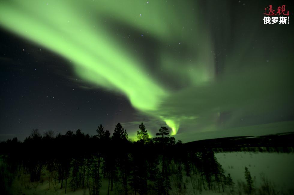 摩尔曼斯克州的北极光。图片来源:Lev Fedoseyev/塔斯社