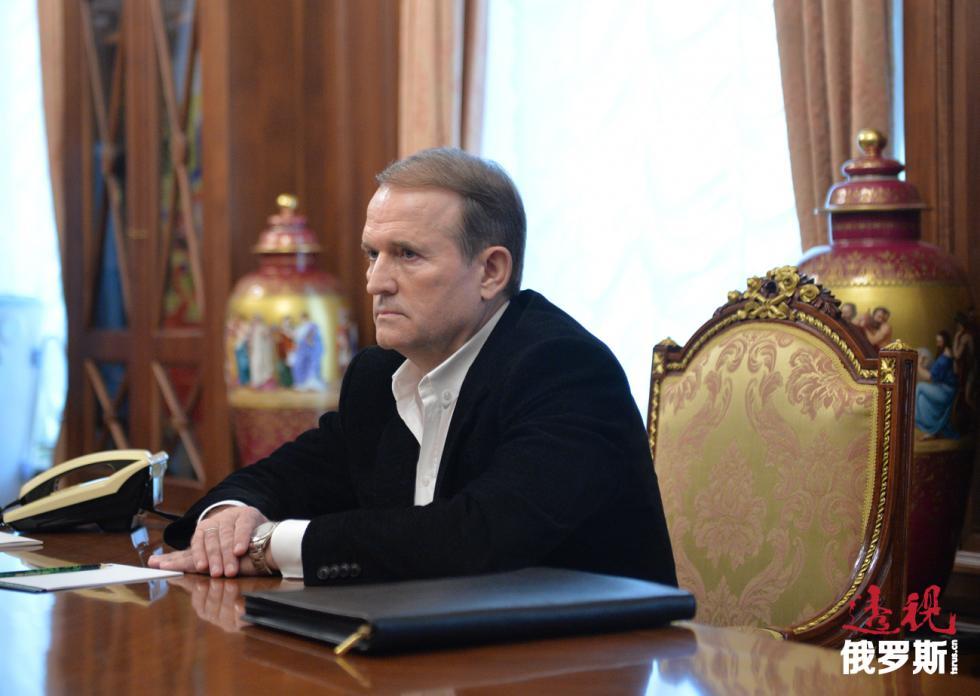 维克托·梅德韦德丘克(Viktor Medvedchuk)。图片来源:Aleksey Druzhinin / 俄新社